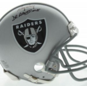 Raiders Ray Guy HOF Kicker signed mini Helmet